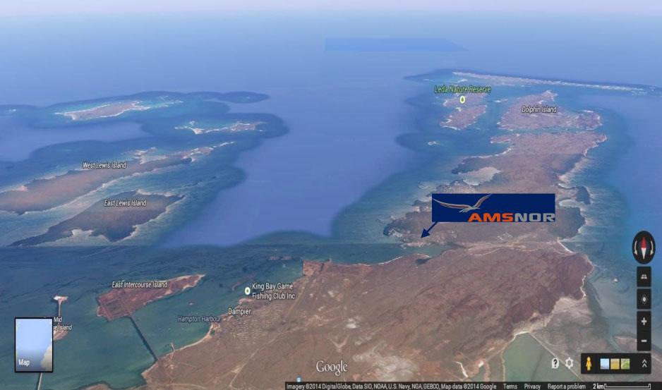 AMSNOR aerial map